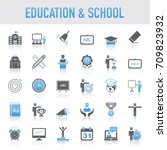 universal education and school... | Shutterstock .eps vector #709823932