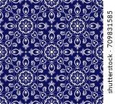 italian tile pattern vector... | Shutterstock .eps vector #709831585