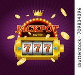 casino gambling game jackpot... | Shutterstock .eps vector #709834396