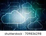 2d rendering cloud computing | Shutterstock . vector #709836298