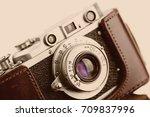 old camera   Shutterstock . vector #709837996