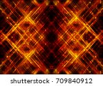 abstract fractal orange... | Shutterstock . vector #709840912