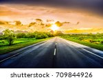 road in the countryside malaysia | Shutterstock . vector #709844926
