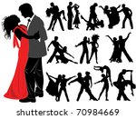 dancing couples | Shutterstock .eps vector #70984669