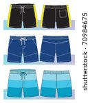 swim shorts for young men | Shutterstock .eps vector #70984675