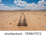 abandoned railway tracks in the ... | Shutterstock . vector #709847572