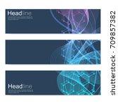 scientific set of modern vector ... | Shutterstock .eps vector #709857382