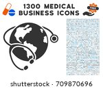 global healthcare stethoscope...   Shutterstock .eps vector #709870696