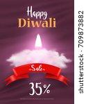 diwali sale offer template...   Shutterstock .eps vector #709873882