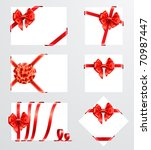 collection of red bows with... | Shutterstock .eps vector #70987447