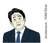 shinzo abe prime minister of... | Shutterstock .eps vector #709875016