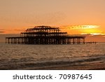 Sunset View Of West Pier In...