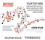 music notes on a solide white... | Shutterstock .eps vector #709880002