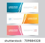 set of abstract banner template ... | Shutterstock .eps vector #709884328