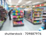 blurred image people shopping...   Shutterstock . vector #709887976