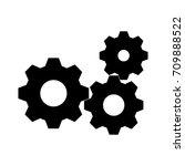 settings icon  gears   black... | Shutterstock .eps vector #709888522