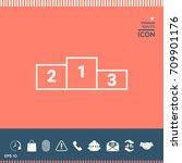 pedestal  podium icon | Shutterstock .eps vector #709901176