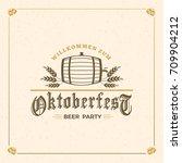 beer festival oktoberfest... | Shutterstock .eps vector #709904212