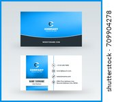double sided horizontal... | Shutterstock .eps vector #709904278