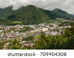 bad ischl  austria  as seen... | Shutterstock . vector #709904308