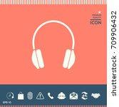 headphones icon | Shutterstock .eps vector #709906432