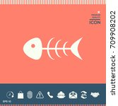fish skeleton icon | Shutterstock .eps vector #709908202