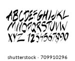 graphic font for your design....   Shutterstock .eps vector #709910296