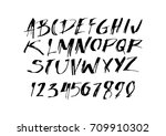 graphic font for your design.... | Shutterstock .eps vector #709910302
