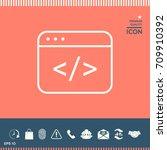 code editor icon | Shutterstock .eps vector #709910392