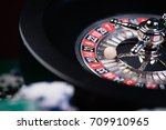 Roulette in casino and poker...