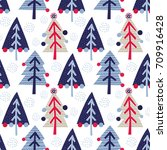 seamless vector pattern with... | Shutterstock .eps vector #709916428