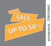 banner week sale 50  vector | Shutterstock .eps vector #709919842