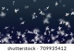 maple leaf is falling down in... | Shutterstock . vector #709935412