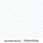 simple seamless geometric grid... | Shutterstock .eps vector #709945006