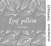 hand drawn doodle pattern with... | Shutterstock .eps vector #709950625