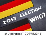 Small photo of Election in Germany on the chalk board . Election concept