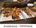 gadong night market  seri... | Shutterstock . vector #709954636