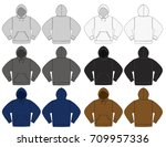 illustration of hoodie hooded... | Shutterstock .eps vector #709957336