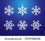 winter blue christmas frost... | Shutterstock .eps vector #709958098