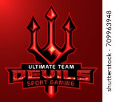 devil sport game mascot logo... | Shutterstock .eps vector #709963948
