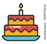 cake vector icon | Shutterstock .eps vector #709970212