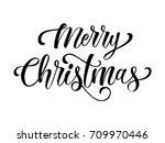 merry christmas lettering | Shutterstock .eps vector #709970446