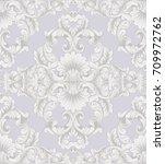 luxury baroque ornament... | Shutterstock .eps vector #709972762