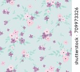 seamless floral pattern.... | Shutterstock .eps vector #709973326