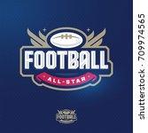 modern professional sport logo... | Shutterstock .eps vector #709974565
