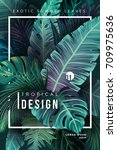 bright tropical background with ... | Shutterstock .eps vector #709975636
