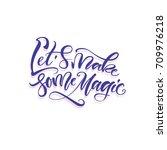 vector illustration. lettering. ... | Shutterstock .eps vector #709976218