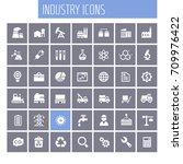 big industry icon set | Shutterstock .eps vector #709976422