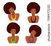 african american retro comics... | Shutterstock .eps vector #709977232