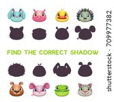find the correct shadow. game... | Shutterstock .eps vector #709977382
